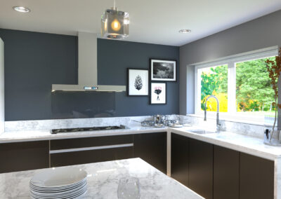 3d visualisation of kitchen